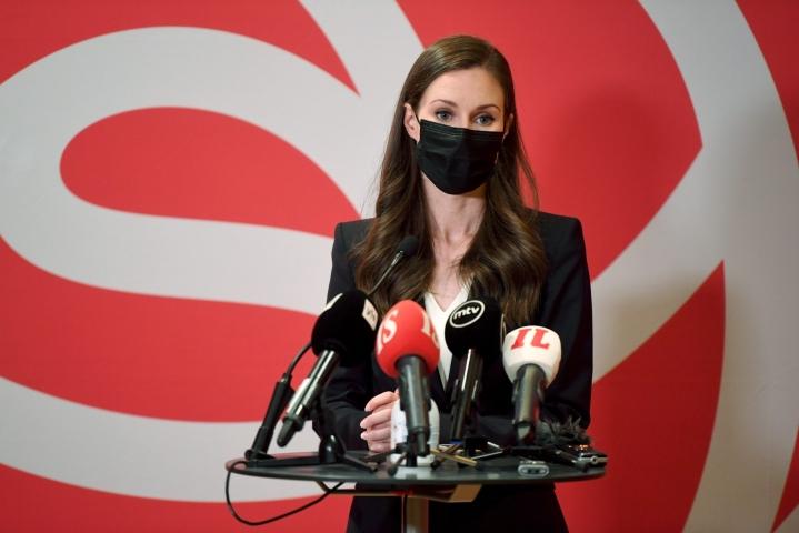 Marinin mukaan SDP tekee puolueiden kanssa asiapohjaista yhteistyötä, mutta perussuomalaisten kanssa SDP:llä ei ole kovin paljon yhteistä. LEHTIKUVA / ANTTI AIMO-KOIVISTO