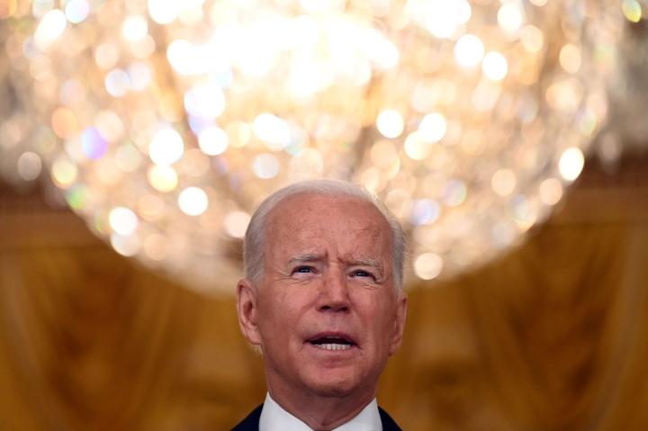 Joe Biden on korostanut toistuvasti sitä, ettei hän suostu vierittämään vastuuta Afganistanin sodasta enää omalle seuraajalleen. LEHTIKUVA / AFP