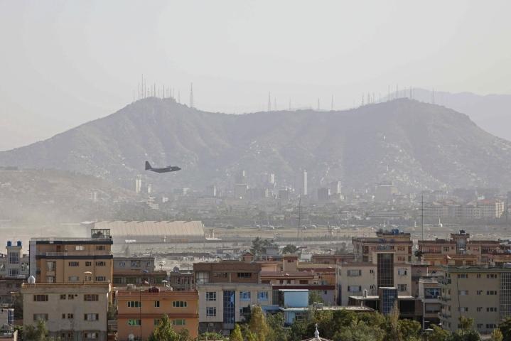 Britannia päätti evakuointilentonsa Afganistanin pääkaupungista Kabulista lauantaina. LEHTIKUVA / AFP