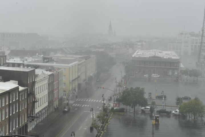 Hirmumyrsky Ida etenee Yhdysvalloissa Louisianan osavaltiossa. Ida on kansallisen hurrikaanikeskuksen mukaan heikentynyt kolmoskategorian myrskyksi. LEHTIKUVA/AFP
