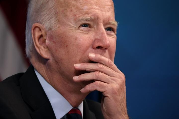 Presidentti Joe Biden kiitti yhdysvaltalaisjoukkoja evakuointien loppuunsaattamisesta. LEHTIKUVA/AFP