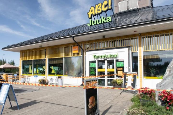 Juuan ABC:n kahviotiloissa syttyi tulipalo viime viikon perjantaina.