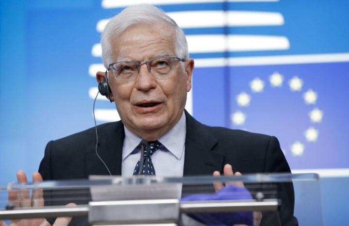 EU:n ulkoasioiden ja turvallisuuspolitiikan korkea edustaja Josep Borrellin mukaan EU:n on keskusteltava Afganistanin vallanneen ääriliike Talebanin kanssa. LEHTIKUVA/AFP