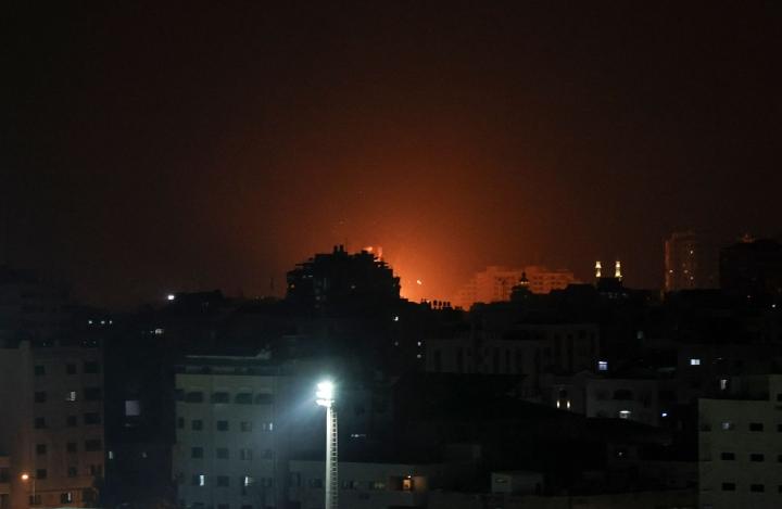 Israel on tehnyt ilmaiskuja yli vuosikymmenen saarrossa olleelle Gazan kaistalle. LEHTIKUVA/AFP