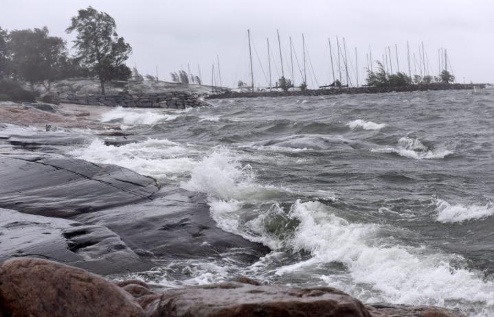 Varoitus voimakkaasta tuulesta on annettu maanantaiksi maan etelä- ja keskiosiin Oulun korkeudelle asti. LEHTIKUVA / Heikki Saukkomaa