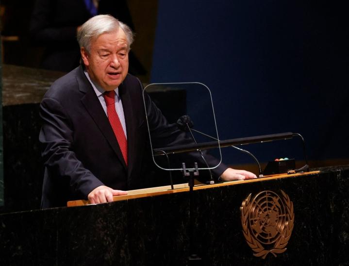 YK:n pääsihteeri Antonio Guterresin mukaan pysyvät jäsenmaat haluavat Afganistanin, jossa naisten oikeuksia kunnioitetaan. LEHTIKUVA/AFP