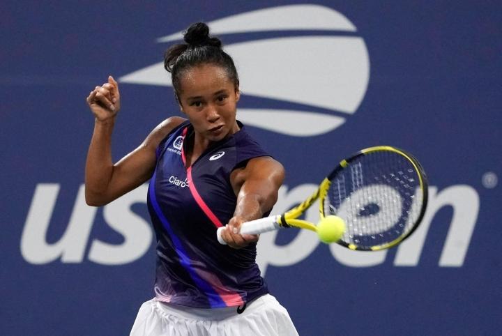 Kanadan tenniksen nuori lupaus Leylah Fernandez. LEHTIKUVA/AFP
