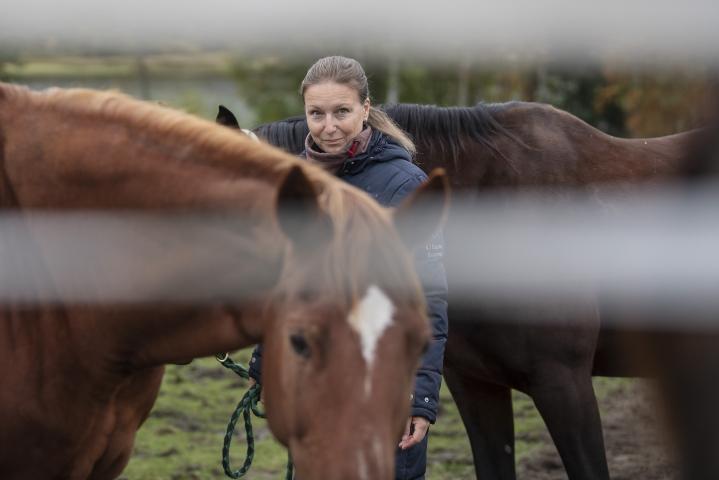 Kristiina Joensuun mukaan hevosavusteiset mindfulness-tuokiot ovat palkitsevia myös hevoselle.