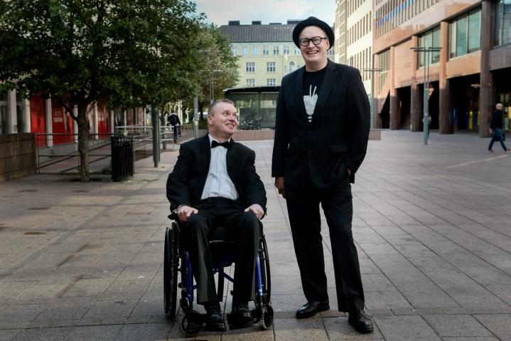Elokuvan pääosassa nähdään Petri Poikolainen (vas.) ja sen on ohjannut Teemu Nikki. LEHTIKUVA / Mikko Stig