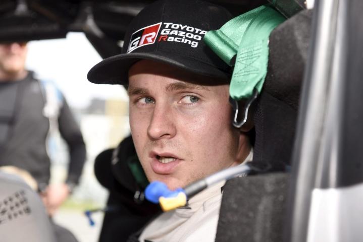 Esapekka Lappi on vahvimmin ehdolla Toyotan ensi MM-kauden kolmanneksi kuljettajaksi. LEHTIKUVA / Heikki Saukkomaa