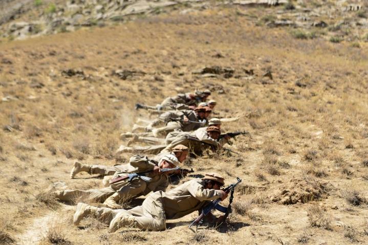 Panjshirin laaksoa puolustavat maan viimeiset Talebania vastustavat sissijoukot. Lehtikuva/AFP
