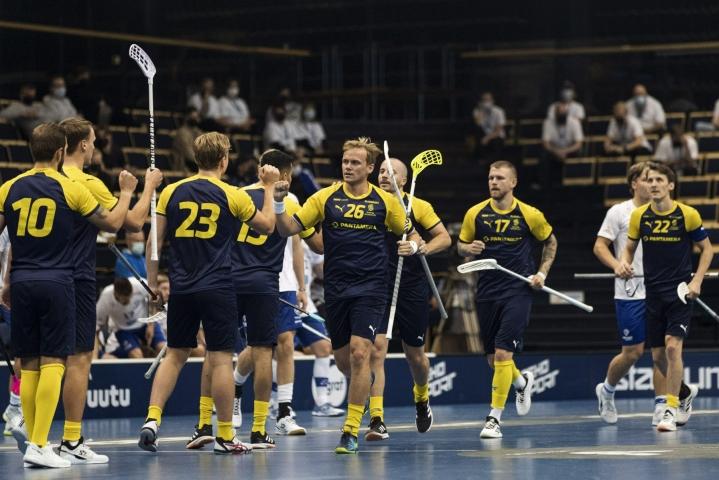 Ruotsi juhli voittoa Suomesta myös eilen. Lehtikuva / Roni Rekomaa