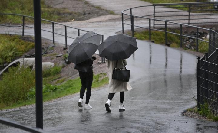 Sunnuntaina on vielä koleaa, mutta suuressa osassa maata vettä saadaan korkeintaan yksittäisten sadekuurojen muodossa. Lehtikuva / Heikki Saukkomaa