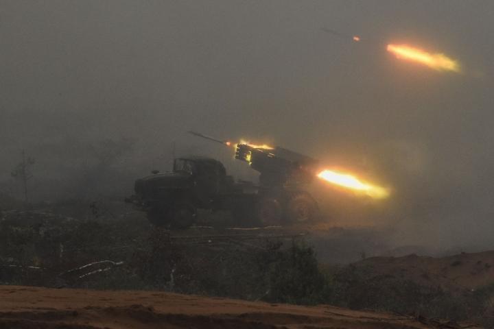 Venäjän Zapad 21 -sotaharjoitukseen osallistuu noin 200 000 sotilasta. Harjoitukseen osallistuu myös Valko-Venäjän joukkoja, ja se ulottuu Valko-Venäjän maaperälle. LEHTIKUVA/AFP