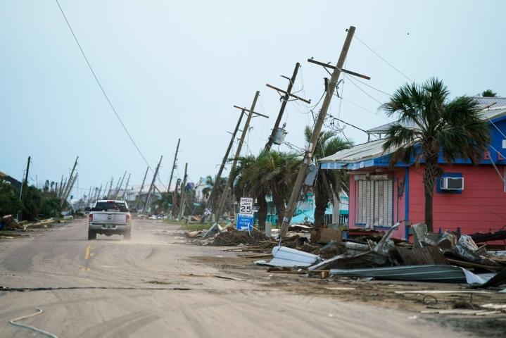 Louisianan osavaltio kärsii edelleen sähkökatkoista Ida-hurrikaanin jäljiltä. Lehtikuva/AFP