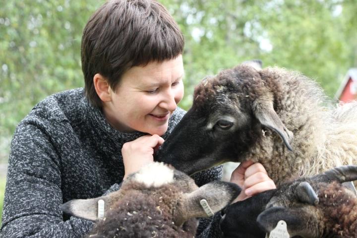 Riveriassa opiskeleva Veronika Zavgorodneva pohtii maatalousyrittäjyyttä yhtenä tulevaisuuden vaihtoehtona opiskelujen jälkeen.