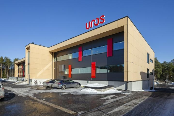 Teknologiayhtiö Uros Oy:n pääkonttori Oulussa kuvattiin viime maaliskuussa. LEHTIKUVA / Timo Heikkala