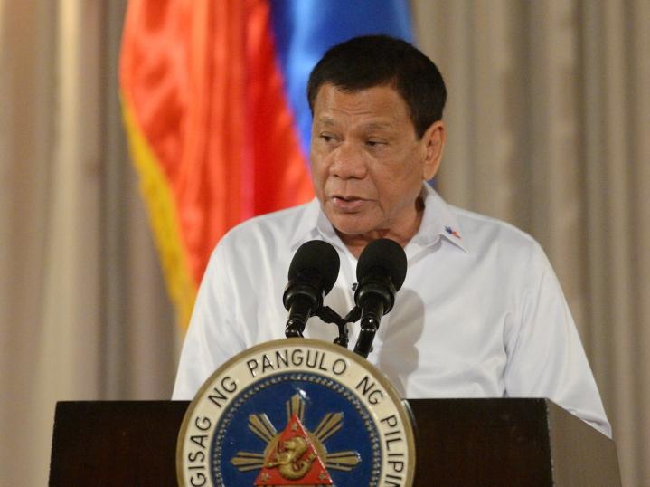 Filippiinien huumesota on presidentti Rodrigo Duterten huumeiden käyttäjien ja huumekauppiaiden vastainen kampanja. LEHTIKUVA/AFP