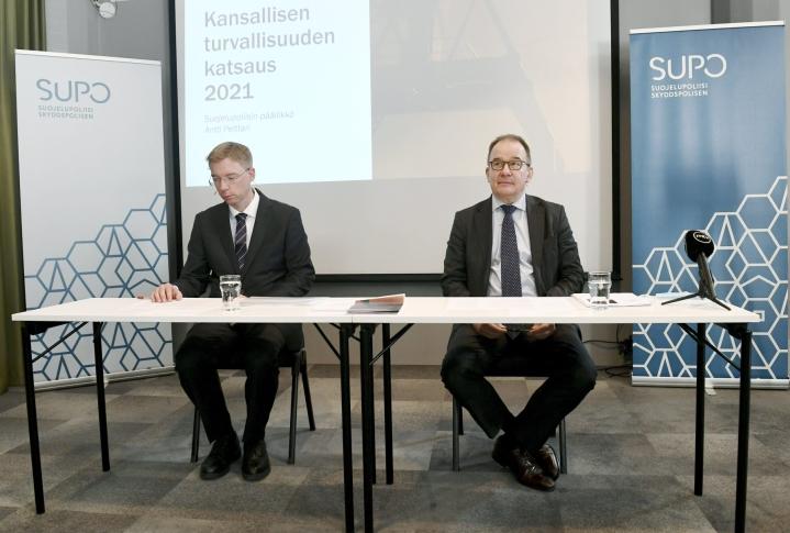 Suojelupoliisin mukaan Suomi kiinnostaa tiedustelullisesti yhä erityisesti Venäjää ja Kiinaa. LEHTIKUVA / EMMI KORHONEN