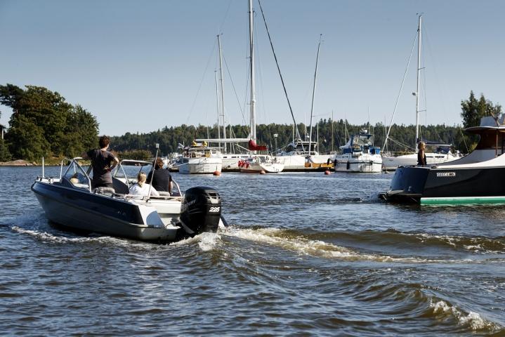 Korona-aikana veneilyn suosio on kasvanut. Lehtikuva / Roni Rekomaa