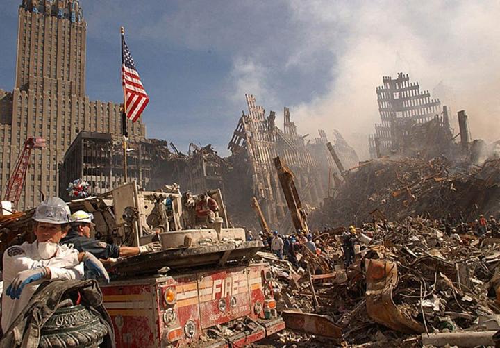 World Trade Centerin kaksoistornit tuhonneista iskuista tulee lauantaina kuluneeksi 20 vuotta. LEHTIKUVA/AFP