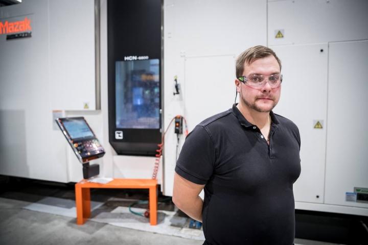 CNC-Machining Oy:n Petri Holopainen syyskuussa 2018