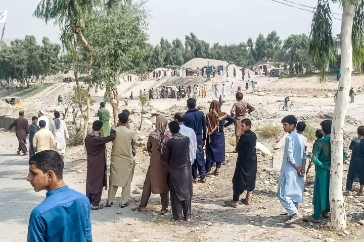Pommi-isku tehtiin  Jalalabadissa Afganistanin itäosassa. Lehtikuva/AFP