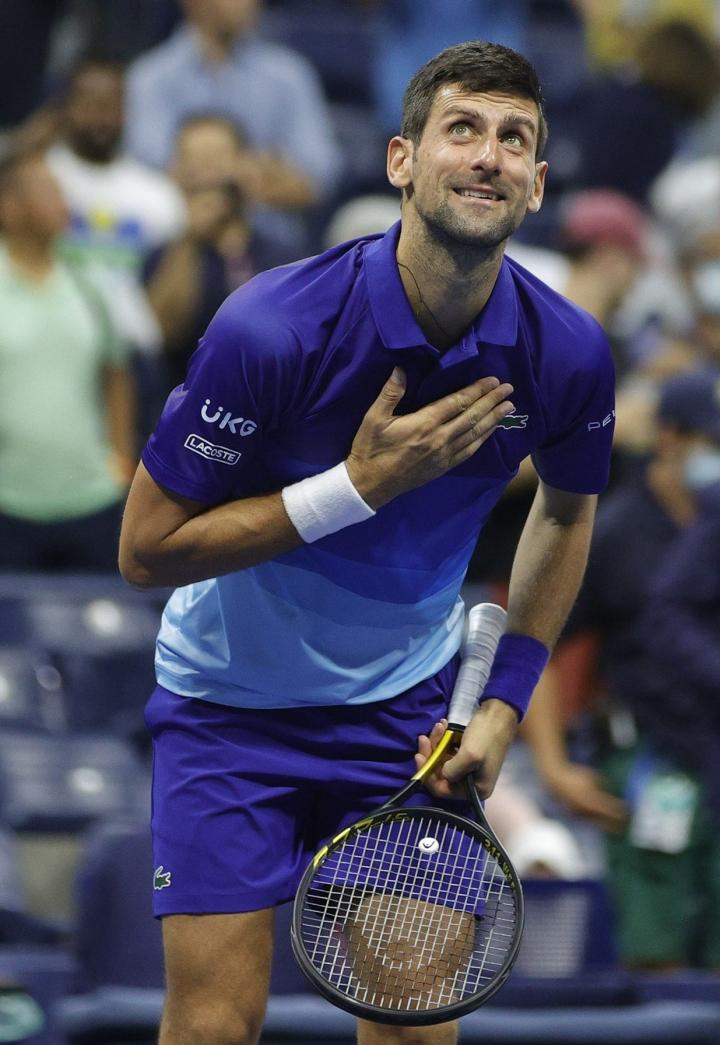 Jos Novak Djokovic voittaa Yhdysvaltain avoimet, hän nousee yksin kaikkien aikojen ykköseksi miesten grand slam -kaksinpeliturnausvoittojen määrässä. LEHTIKUVA/AFP