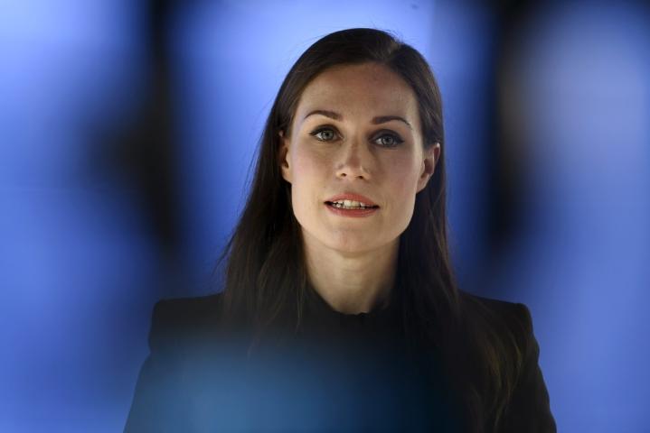 Riihi venyy ainakin huomiselle, sanoi pääministeri Sanna Marin (sd.) iltapäivällä. LEHTIKUVA / ANTTI AIMO-KOIVISTO