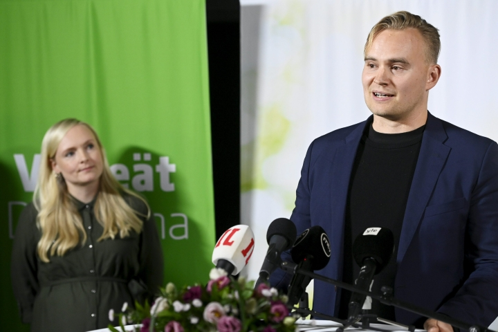 Vihreiden selvästi suosituin varapuheenjohtaja lauantain vaalissa oli Atte Harjanne.