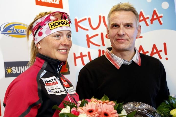 Jarmo Riski on valmentanut muun muassa Virpi Kuitusta, joka päätti menestyksekkään hiihtouransa Kontiolahden SM-hiihdoissa vuonna 2010.