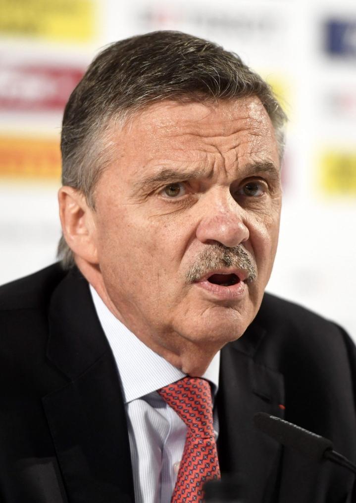 Olemme ehdottoman tyytyväisiä päätökseen, jolla paras jääkiekko saadaan takaisin olympialaisiin, puheenjohtaja Rene Fasel sanoo. LEHTIKUVA / Vesa Moilanen