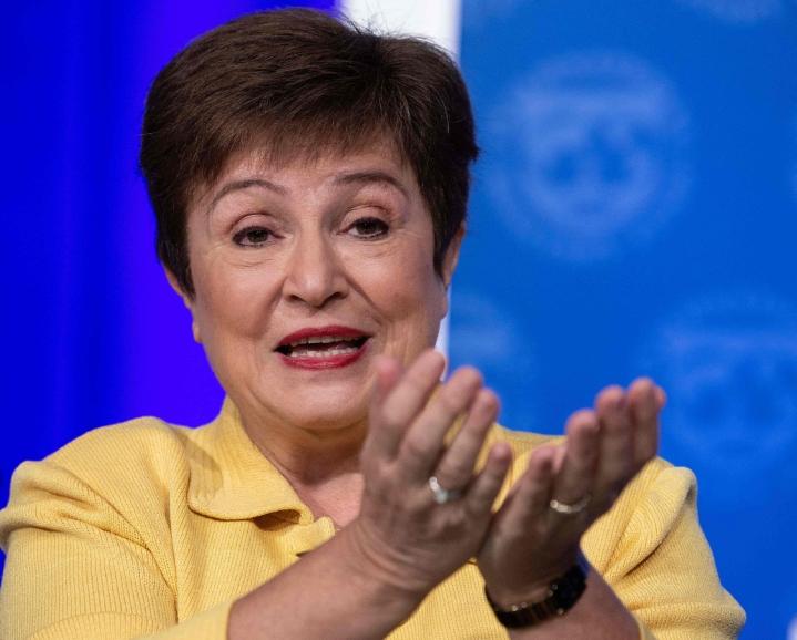 Maailmanpankin raporttien epäjohdonmukaisuuksia selvittänyt ulkopuolinen asianajotoimisto kertoi viime viikolla raportissaan, että Georgieva olisi vuonna 2018 ollut mukana painostamassa alaisiaan muuttamaan Kiinan liiketoimintaympäristöä koskevaa maa-analyysiä myönteisemmäksi. LEHTIKUVA/AFP