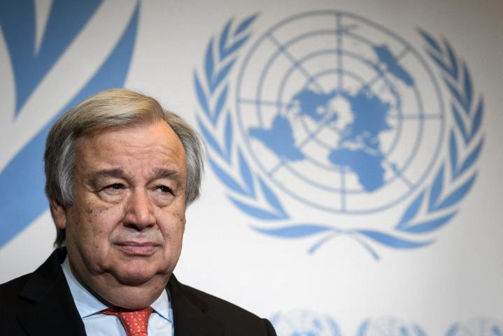 Guterres painottaa afganilaisten tarvitsevan kansainvälisen yhteisön apua. Lehtikuva/AFP
