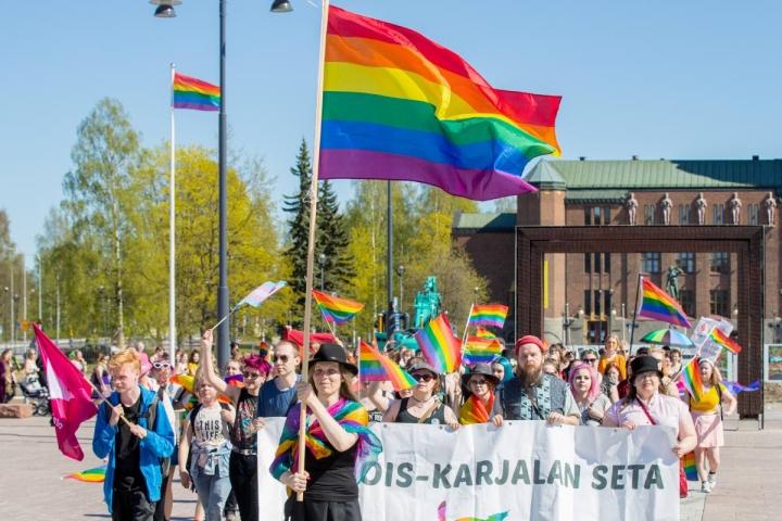 Pride-kulkue järjestettiin Joensuussa edellisen kerran vuonna 2019.