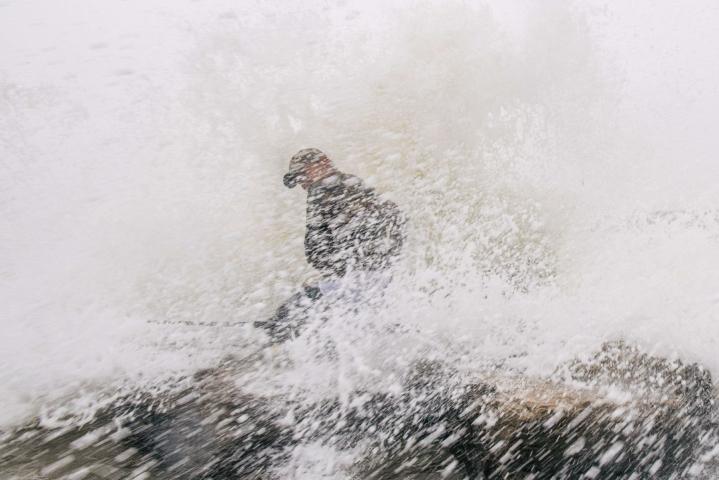 Hirmumyrsky Nicholas tuo rankkasateita, voimakkaita tuulia ja myrskytuhoja Texasin rannikolle.  LEHTIKUVA/AFP