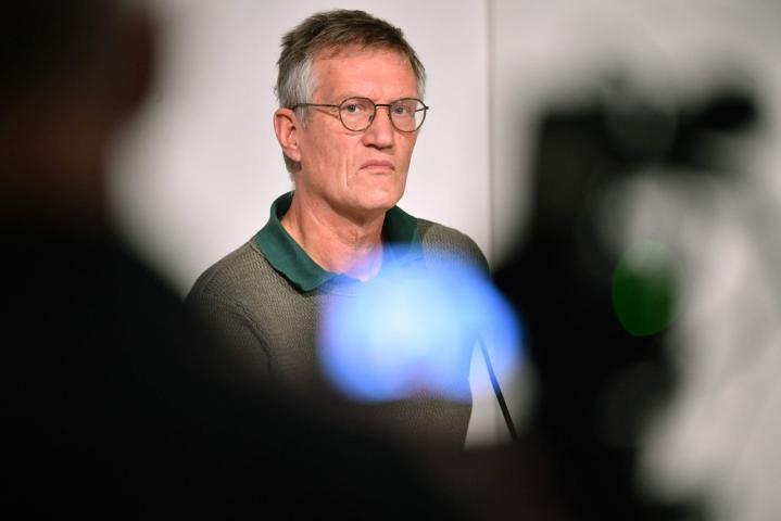 Ruotsin valtionepidemiologi Anders Tegnell on vahvasti sitä mieltä, että nyt oli oikea aika luopua rajoituksista. LEHTIKUVA/AFP