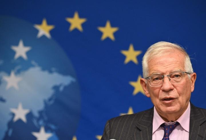 Asiaa kommentoi EU:n ulkoasioiden ja turvallisuuspolitiikan korkea edustaja Josep Borrell. LEHTIKUVA/AFP