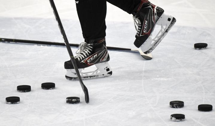 Suomi ylsi huippu-urheilijoiden osuutta mittaavan tutkimuksen kärkikolmikkoon jääkiekossa. Edelle kiilasivat Kanada ja Venäjä. LEHTIKUVA / VESA MOILANEN