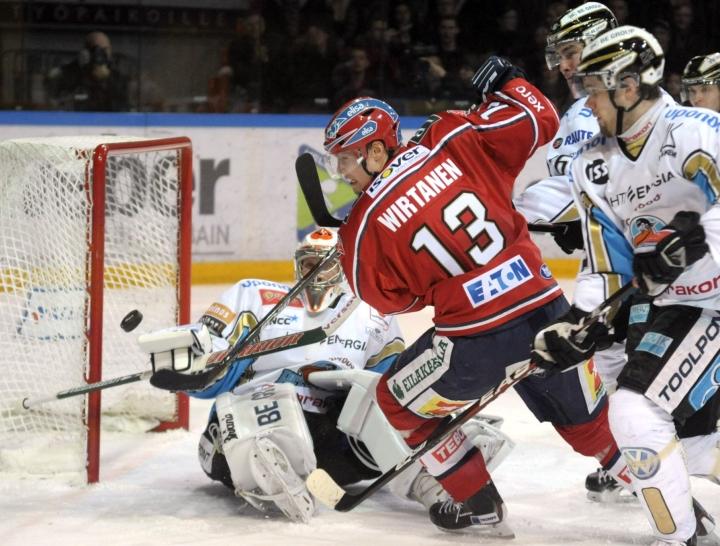 Petteri Wirtanen on tehnyt HIFK:n kanssa sopimuksen, jossa on kokakuun alussa umpeutuva molemminpuolinen optio loppukaudesta. LEHTIKUVA / Markku Ulander