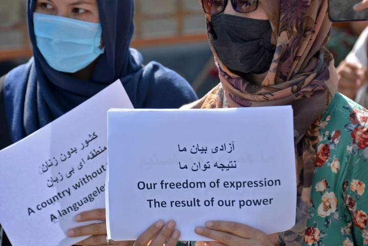 Talebanin on pelätty rajoittavan dramaattisesti naisten oikeuksia Afganistanissa. Lehtikuva/AFP