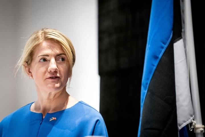 Viron siteet Suomeen ovat edelleen läheiset ja vahvat, sanoo Viron ulkoministeri Eva-Maria Liimets. Arkistokuva. Lehtikuva/AFP