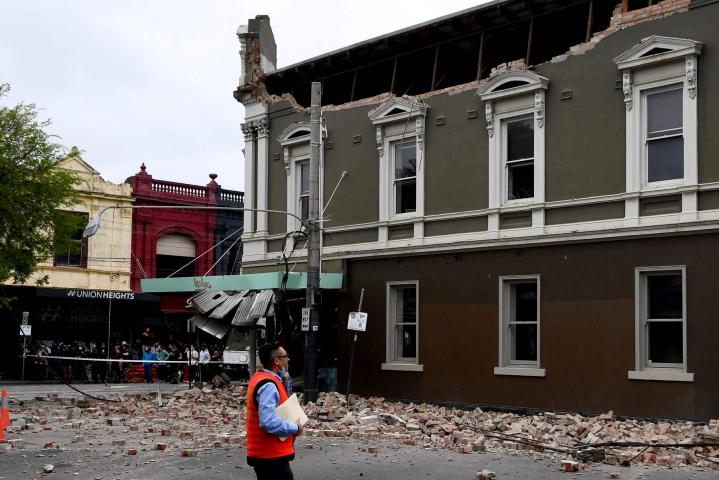 Australian kaakkoisosissa tapahtui keskiviikkoaamuna paikallista aikaa maanjäristys, joka oli voimakkuudeltaan 5,9. Maanjäristyksen keskus oli Victorian osavaltiossa, jonka pääkaupunki on Melbourne. LEHTIKUVA/AFP