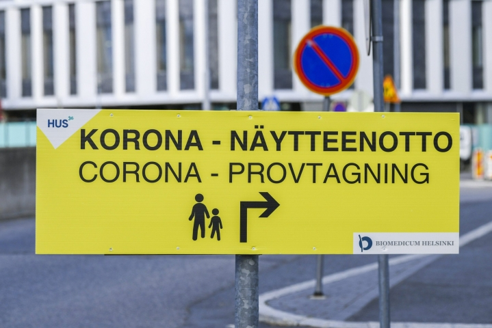 Kaikkiaan Suomessa on todettu yli 133600 koronatartuntaa. LEHTIKUVA / MARKKU ULANDER