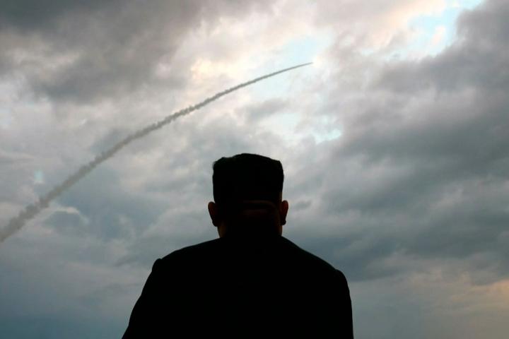 Arkistokuvassa Pohjois-Korean johtaja Kim Jong Un.