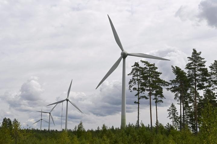 Sitran selvityksen mukaan pääosa kasvavasta sähkön tarpeesta on halvinta korvata tuulivoimalla. LEHTIKUVA / JUSSI NUKARI