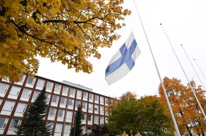 Kouluisku tapahtui Savon ammattiopistossa lokakuun ensimmäisenä päivänä 2019. LEHTIKUVA / Vesa Moilanen