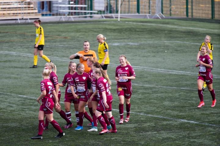 FC Hertan kausi päättyi naisten Kakkosessa voittoisasti. Arkistokuva.