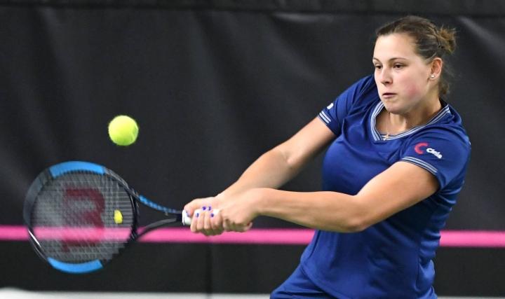 Kulikova kohtaa loppuottelussa neljänneksi sijoitetun Ranskan Jessika Ponchetin. Kuva keväältä 2019. LEHTIKUVA / JUSSI NUKARI