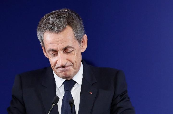 Ranskan ex-presidentti Sarkozy kuvassa vuodelta 2016. LEHTIKUVA / AFP
